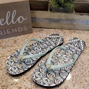 Tory Burch Shoes - Tory Burch Printed Flat Flip Flops